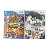 Nintendo Wii Video Game Lot Samba De Amigo Line Rider 2 Unbound