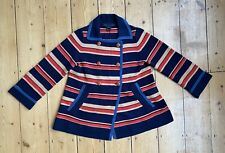 MARC BY MARC JACOBS KATE DOUBLE BREASTED STRIPED CARDIGAN SWEATER SIZE XS / 8-10