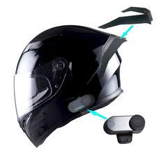 1Storm Motorcycle Full Face Dual Visor Helmet HJK316+Spoiler+Bluetooth Headset