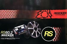"NEW KICKER RS60.2 6"" 2-Way RS Series Convertible Component/Coaxial Speakers 2009"