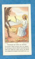 IMAGE PIEUSE HOLY CARD TENTATION DESERT SATAN