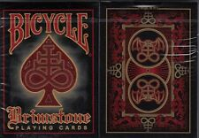 Brimstone Red Bicycle Playing Cards Poker Size Deck USPCC Custom Limited Edition