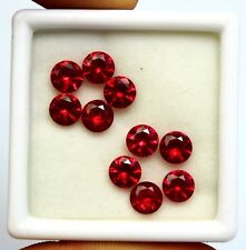 GGL Certified Natural Ruby Round Cut Gems 10 Pcs 6mm 10.10 Ct Jewelery stone
