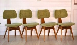 Mid century Fler Formline Fred Lowen chairs x4 dining chairs Australian 1950s