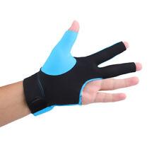 Blue Spandex Pro Snooker Billiard Pool Cue Glove Left Hand Three Finger