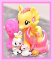 "❤️My Little Pony 3"" Brushable Playful Fluttershy & Pet Bunny G4 Wave 1 2010❤️"