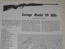 SAVAGE MODEL 99 RIFLE EXPLODED VIEW