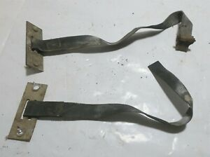 1982 Delorean DMC 12 OEM Set Of Battery Straps W Hold Down Brackets