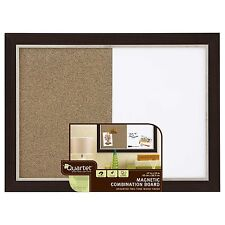 Quartet Home Decor Combination Board, 17 x 23 Inches, Dry-Erase/Cork, Espresso