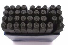 36pc 4mm Letter & Number Punch Metal Stamp Set US PRO Hobby Craft 2049