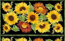 FLOWERS OF THE SUN SUNFLOWERS FABRIC PANEL