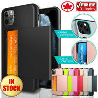 For Apple iPhone 12 Mini 12 Pro Max Shockproof Card Slot Wallet Back Case Cover
