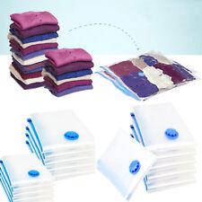 5pcs Large Vacuum Storage Bag Space Clothes Quilts Organizer Set Travel Plastic