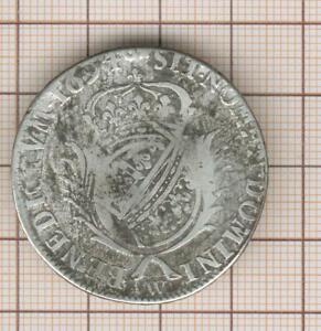 Luigi XIV Mezzo 1/2 ECU Della Fiandre Carambola Aux Pinne 1694 W Lille