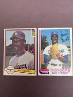 Dave Stewart Rookie Lot 1982 Topps # 213 Donruss # 410 L.A. Dodgers 2-card Lot