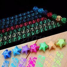 30Pcs Luminous Four Leaf Clover Origami Lucky Star Paper Handmade Paper Folding