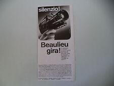 advertising Pubblicità 1967 CINEPRESA BEAULIEU SUPER 8