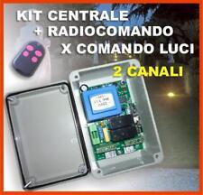KIT CENTRALINA LUCI  230V ( GIARDINO / ALTRO)( RICEVENTE, RICEVITORE, CENTRALE )