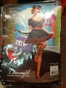 New Dreamgirl Mousin Around Woman Halloween Costume Sexy Size Large
