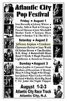 Atlantic City NJ ATLANTIC CITY POP FESTIVAL 1969 Poster Reproduction