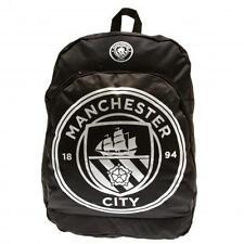 Manchester City Official Black Nylon Backpack School Bag Present Gift