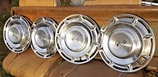 """1960 CHEVROLET 14"""" HUBCAPS SET OF 4 IMPALA BELAIR GOOD USED"""