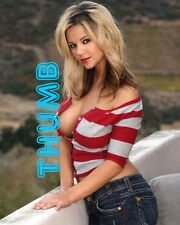 Ashlynn Brooke - 10x8 inch Photograph #063 in Jeans & Stripey Top