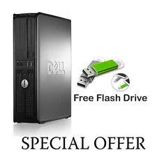 WINDOWS 10 DELL COMPUTER DESKTOP TOWER SET PC 4GB RAM  HDD WIFI UK SELLER