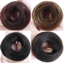 Men Women 100% Real Human Messy Hair Bun Scrunchie Extension Chignon Hair Piece