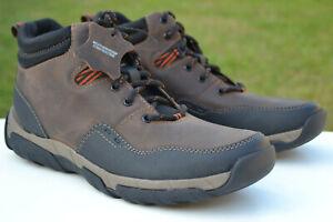 Clarks Mens BNIB Wheatherproof Boots WALBECK TOP Brown Leather UK 8 / 42