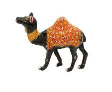 Metal Camel Statue Emboss Painting Work Figurine Home Decor Vintage Sculpture