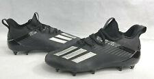 New Adidas Adizero Football Cleats Black Silver Metallic Men's Size 8 EH2707