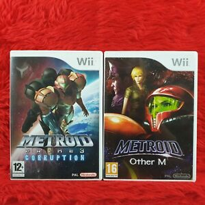 wii METROID PRIME x2 Games 3 Corruption + Other M PAL UK Version