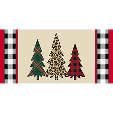 Sassafras Insert Switch Mat Mixed Print Christmas Trees Welcome Mat