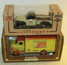 2 Ertl Federated Auto Parts 1953 Ford Delvery Van 1949 Chevrolet 3100 Truck 125