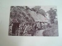 PEASANTS HUT IN THE HIGHLANDS+Lady Spinning - Vintage  Postcard §E1878