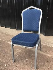 Brand New Blue Banqueting Chairs With Silver Metal Frame UK Stock Fire Rated