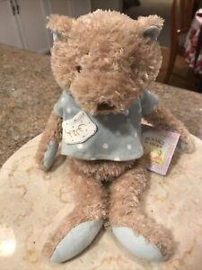 Bunnies by the Bay Tim Teddy Bear Blue Gray Shirt Cherished Old Friends