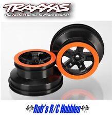 TRAXXAS Wheels Sct Black Orange Bead Lock Style Dual Profile Slash (TRA5868X)