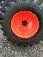TWO 15x19.5 R4 Galaxy tire for Kubota Backhoe, Tractor Tires w/6 Hole Rims