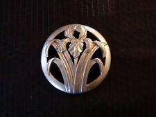 2¾'' metal flower's art deco ornament - Belt buckle ?