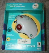 NIB Open Box Logitech USB TrackMan Marble Wheel Optical Trackball 904334-0403