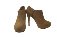 Ladies Brown Pixie Boot Faux Suede Core Collection Ankle High Shoes Size 36 UK 3