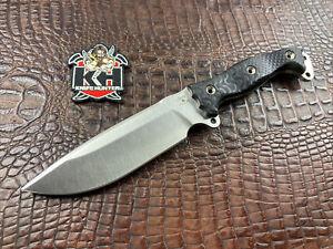 Busse Combat Nuclear NFNO Satin INFI w/ Black G10 Unused Survival Knife