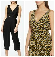 ex Whistles Lara Cropped Wide Leg Button Pockets Jumpsuit RRP £139