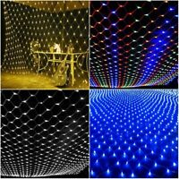 3M LED String Fairy Curtain Lights Net Mesh Xmas Wedding Party Decor waterproof