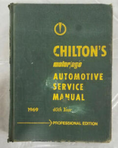 1969 Chilton's Motor Age Automotive Service Manual 40th Year Professional Ed ✨