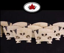 2 pcs Violin Bridge parts maple wood High quality ebony 4/4