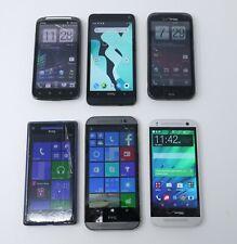 Lot of 6 Various Working HTC Smartphones - One M8, 8X, Sensation 4G, Etc...