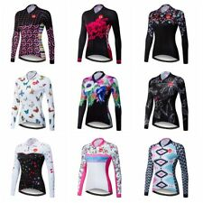 New Women Cycling Jersey Bicycle Team Bike Long Sleeve Clothing Sports Wear Tops